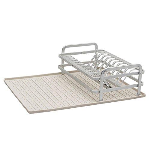 Ta Da Aluminum Compact Dish Rack with Drysmart Silicone Mat,