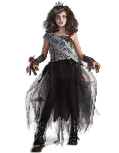 Dead Prom Queen Costume Kids (Rubie's Deluxe Goth Prom Queen Costume - Medium)