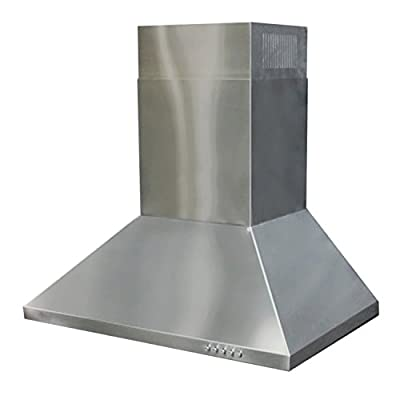 "CAVALIERE 36"" Wall Mounted Stainless Steel Kitchen Range Hood 860 CFM Spagna Vetro Econo Series SV198F-36"