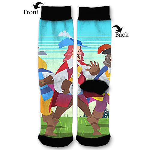 EKUIOP Socks Three Musketeer Funny Fashion Novelty Advanced Moisture Wicking Sock for Man Women -