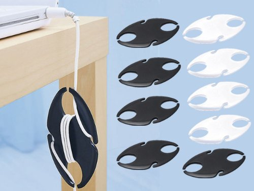 - POWER CORD ORGANIZER PACK (SET OF 9 - 4 WHITE AND 5 BLACK)