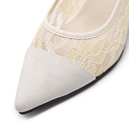 femeninos con puntilla tacones zapatos ZHZNVX altos Shu Sugerencia singles black fina expuestos xqwIZz4