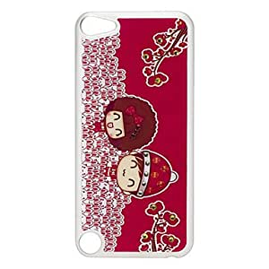 GJYCouple Pattern Hard Case with Rhinestone for iPod Touch 5
