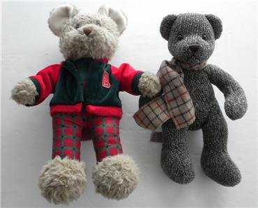 NEW Oxford T. Bearrester And Christopher & Holly Teddy Bears Plush Collectibles