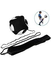 Haofy Fútbol Trainer, Voleibol Servir Equipos, Equipo de Entrenamiento de fútbol Manos Libres Práctica en Solitario con cinturón Cuerda elástica # 3# 4# 5 balones de fútbol para niños Adultos