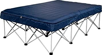 cabela folding queen air bed frame with wheeled storage bag