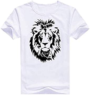 White Lion T-Shirt For Boys - size 9-11 years