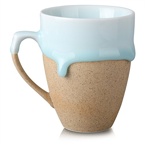 Handmade Coffee Mug with Handle (10 fl oz/300ml), Ceratown Unique Design Drip Glaze Ceremic Mug, Great Gift for Dad, Color ()
