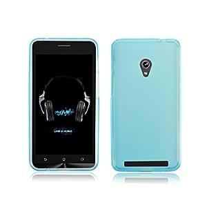 ABC(TM) Skin Pudding Flexible TPU Covers Case Design for ASUS ZenFone 6 (Light Blue)