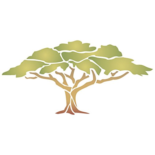 shade-tree-stencil-size-13w-x-65h-reusable-wall-stencils-for-painting-best-quality-african-wall-art-