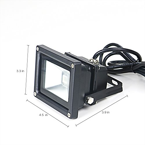 YQL Outdoor UV Black Light,10W Ultra Violet LED Flood Light,Blacklights for DJ Disco Night Clubs,UV Light Glow Bar,Blacklight Dance Party,Stage Lighting,glow in the dark party supplies by YQL (Image #6)