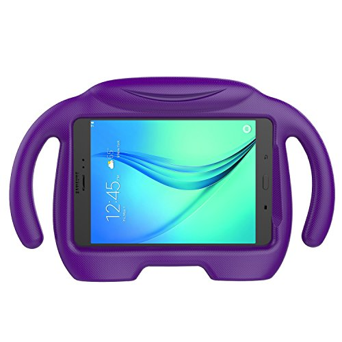 LEDNICEKER Kids Case for Samsung Galaxy Tab A 8.0 (2015) - Light Weight Shock Proof Handle Stand Kids Friendly Case for Samsung Tab A 8-inch Tablet SM-T350 2015 Releas (NOT Fit 2017 Tab A 8.0 - Purple