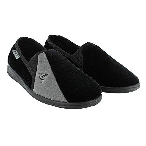 Dunlop - Zapatillas de estar por casa de sintético para hombre negro - Black / grey