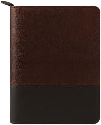 FranklinCovey Classic Logan Leather Zipper Binder Chocolate//Espresso
