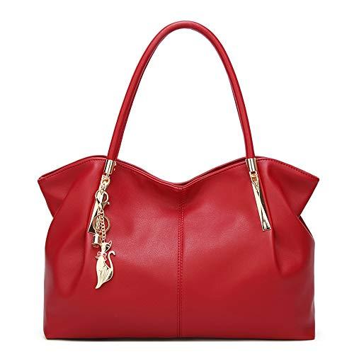 Señoras Satchel Las Bolso Compartimientos Red Top Con Monedero De Totalizador Moda Bolsos Comprador Asa Mujeres Grande La red Hombro Del Cuero 0wqE8vE