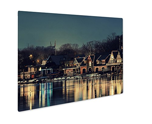 Ashley Giclee Metal Panel Print, Boathouse Row In Philadelphia As The Famous Historical Landmark, 8x10, AG6488020