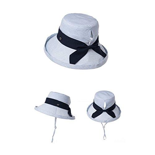 Beige Qiqidedian Pieghevole colore Da Femminile Pescatore Cappello Sole Estivo Solare Uv Protezione Visiera Viaggio Blu PAxOfTO