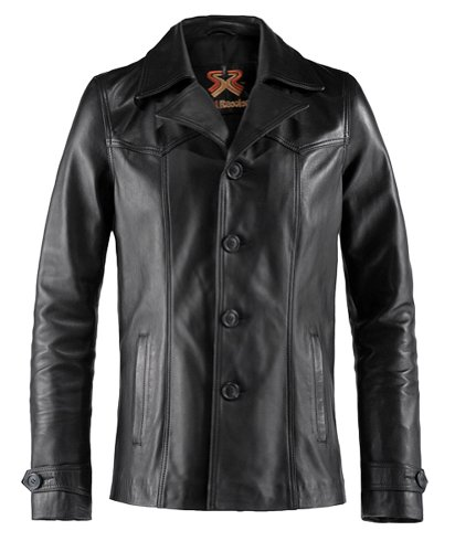 Soul Revolver Heist Vintage Leather Jacket - Black - L