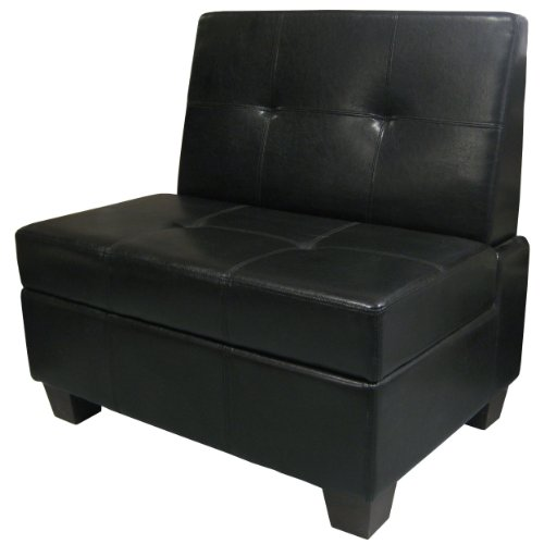 Fabric Storage Bench Microfiber Button Tufted Bedroom Seat: Butler Microfiber Upholstered Tufted Padded Hinged Storage