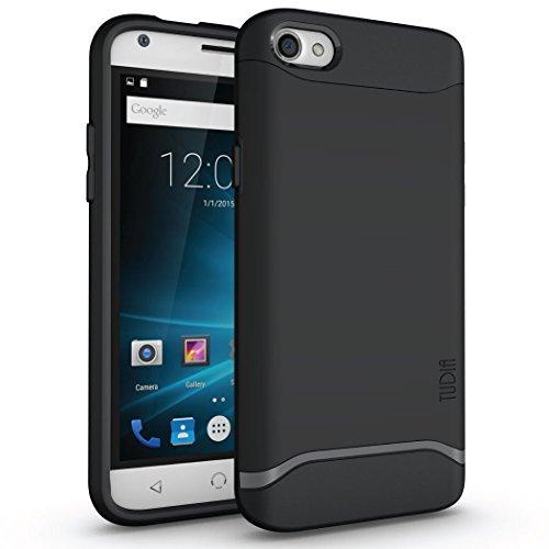 TUDIA Slim-Fit MERGE Dual Layer Protective Case for NUU Mobile X4 Smartphone (Matte Black) by TUDIA