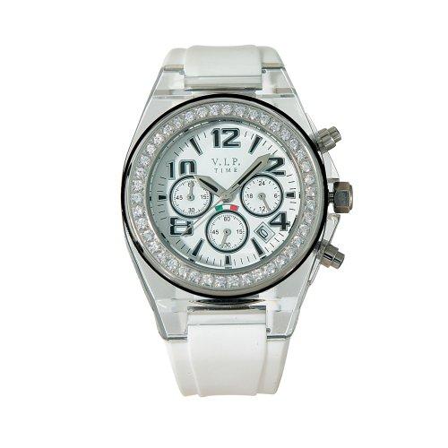 V.I.P. Time V.I.P. Time CRU-S-06 - Reloj de mujer de cuarzo con correa de silicona negra: Amazon.es: Relojes