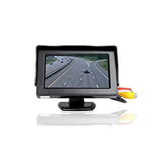 """ATian 4.3"""" High Resolution Car Color TFT LCD Camera Monitor 2 Video Input New Screen"""