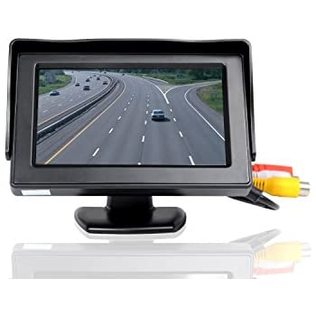 "ATian 4.3"" High Resolution Car Color TFT LCD Camera Monitor 2 Video Input New Screen"