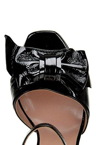 Women's Black Sandals L'Autre Leather Patent Chose MCGLCAT04025I BwFxOxZnA