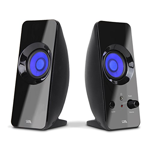 Cyber Acoustics 2.0 Lighted Speaker System - Home Audio for