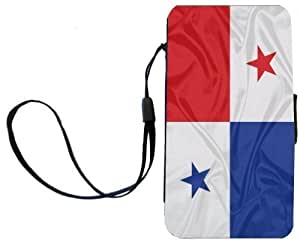 Rikki KnightTM Panama Flag Galaxy S3 i9300 PU Leather Wallet Type Flip Case with Magnetic Flap and Wristlet for Samsung Galaxy S3