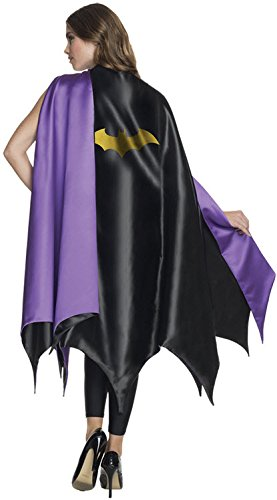 Batgirl Costumes For Adults (Rubie's Costume CO Women's DC Superheroes Deluxe Batgirl Cape, Multi, One Size)