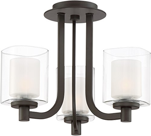 (Quoizel KLT1715WT Kolt Convertible from Semi-Flush to Pendant Lighting, 3-Light, Xenon 180 Watts, Western Bronze (12