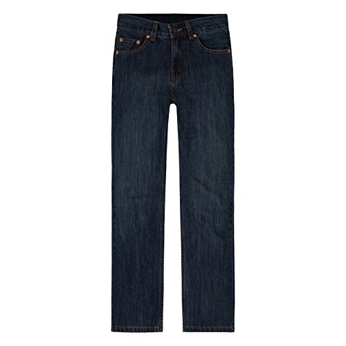 (Levi's Boys' Big 550 Relaxed Fit Jeans, Dark Crosshatch,)