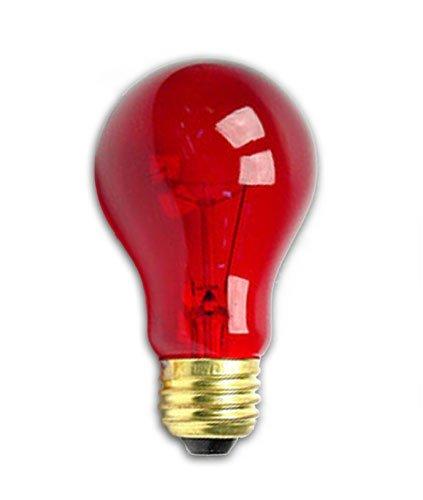 25 Watt A19 Transparent Red Light Bulb By Generic