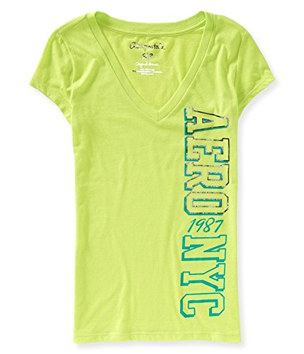 Aeropostale Womens NYC 1987 Graphic T-Shirt Green XS - ()