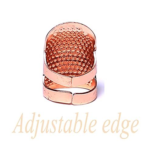 AXEN 4 Pieces Sewing Thimble, Metal Rose Gold Sewing Thimble Finger Protector, Accessories DIY Sewing Tool, Two Size 4 Pieces