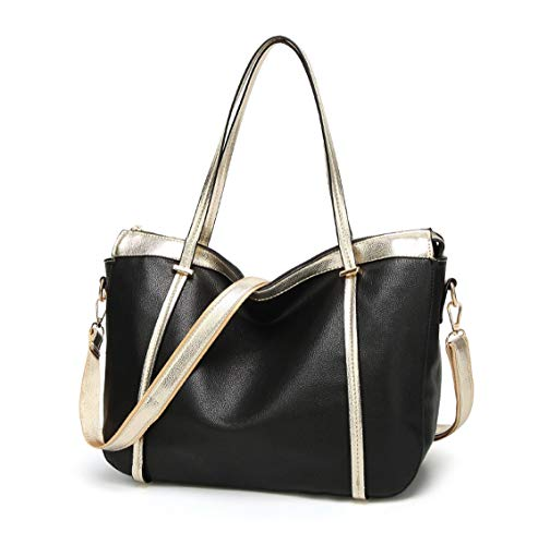 Handle Bags Black Handbags Cross Faux Top Body Bags Bags Leather Women's Shoulder wBCTq646