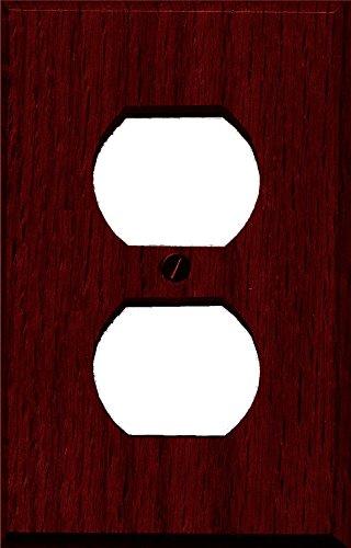 Runwireless Traditional Dark Cherry Wood Wall Plate/Switch Plate - 4-407 (Duplex) - Cherry Wood Wall