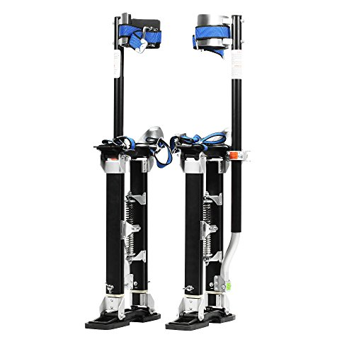 "Pentagon Tools 1151 Black MAG Stilts 18-30 Mag Pros Magnesium Drywall Highest Quality Stilts, 8"" Height, 30"" Width, 6"" Length, 228 lb. Load Capacity, Magnesium, Black"