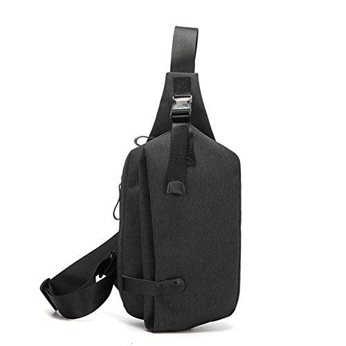 negro de la moda de y negro del hombres mochila de ocio Deportes la pequeña men bolsa lkklily bolsa Slant U80wS