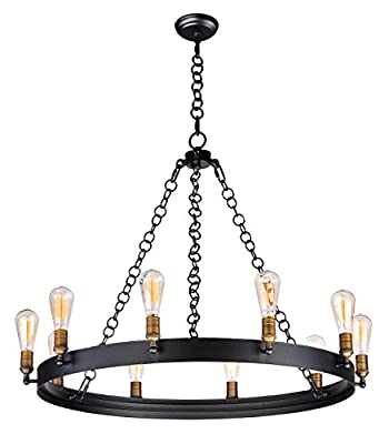 Maxim Lighting 26275BKNAB/BUI Noble-Chandelier 10-Light Bulbs