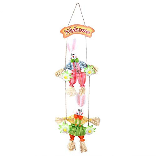 Party DIY Decorations - Diy Hanging Ornament Happy Easter Double Harvest Scarecrows Foam Egg Bunny Rabbit - Decorations Party Party Decorations Artificial Lotus Easter Plastic Decor Bear Foam Bu