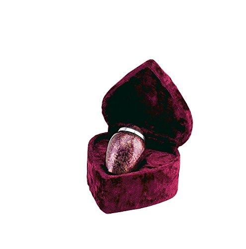 Elegante Beautifully Crafted Burgundy-Plum Alloy Keepsake with Elegant Heart-Shape Velvet Case