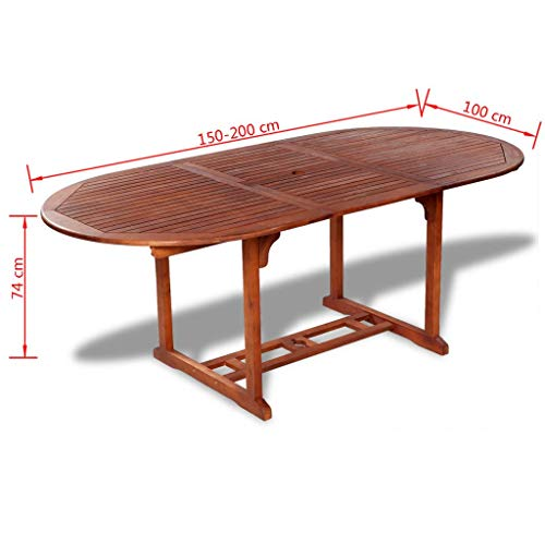 Marvelous Tidyard Large Outdoor Patio Wood Extendable Dining Table Acacia Wood Gmtry Best Dining Table And Chair Ideas Images Gmtryco