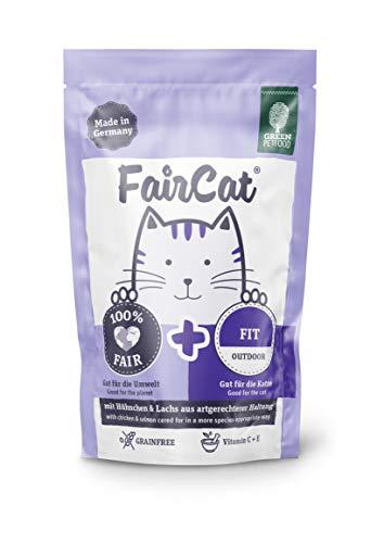 Green Petfood FairCat Fit – Getreidefrei/für Outdoor Katzen – Katzenfutter Nass 16x85g