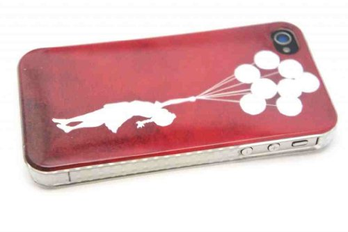 iPhone 4 4S Banksy Graffiti-Kunst Graffiti Art Floating Balloons Girl Stil Case cover Designer Hard Hülle Fashion Trend Case-Kunststoff