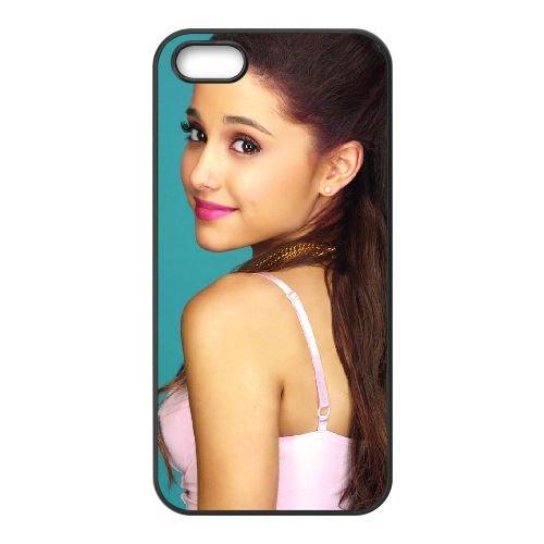 Ariana Grande Singer Wide coque iPhone 5 5S cellulaire cas coque de téléphone cas téléphone cellulaire noir couvercle EOKXLLNCD21707