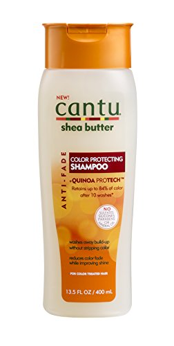 Cantu Shea Butter Anti Fade Color Protecting Shampoo with Quinoa Protein, 13.5 Fluid Ounce
