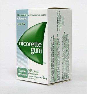 Nicorette Nicotine Gum 2mg Classic Original 6 Boxes 630 Pieces by Nicorette (Image #1)