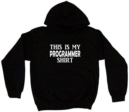 - This is My Programmer Shirt Men's Hoodie Sweat Shirt XL, Black